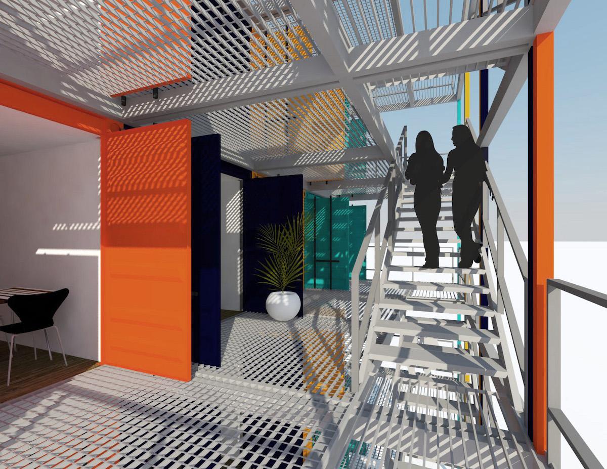 containers escaleras
