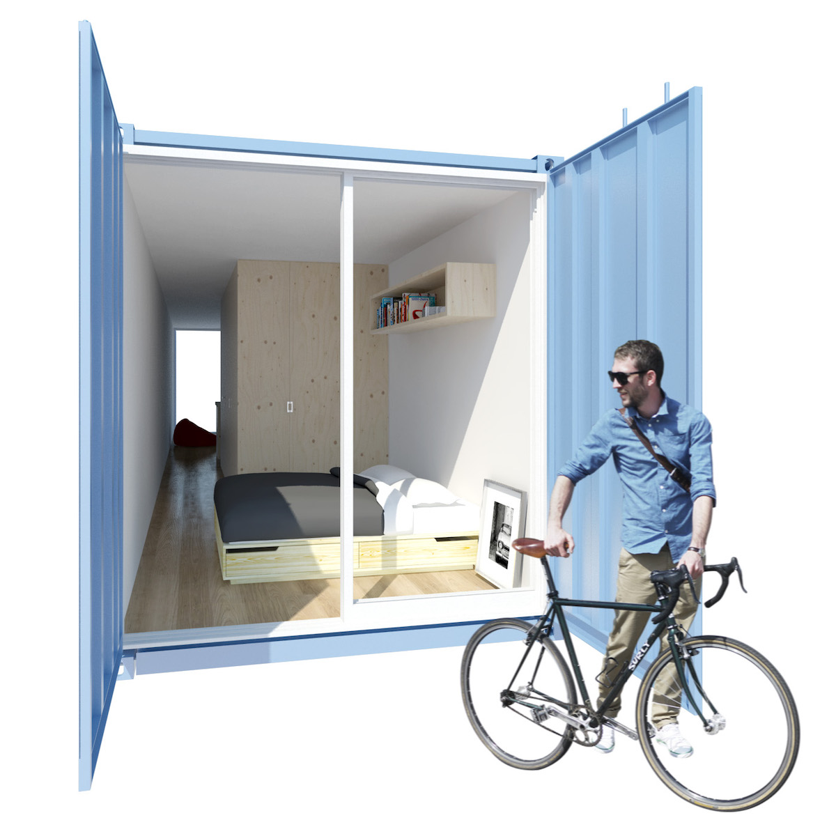 exterior dormitorio containers