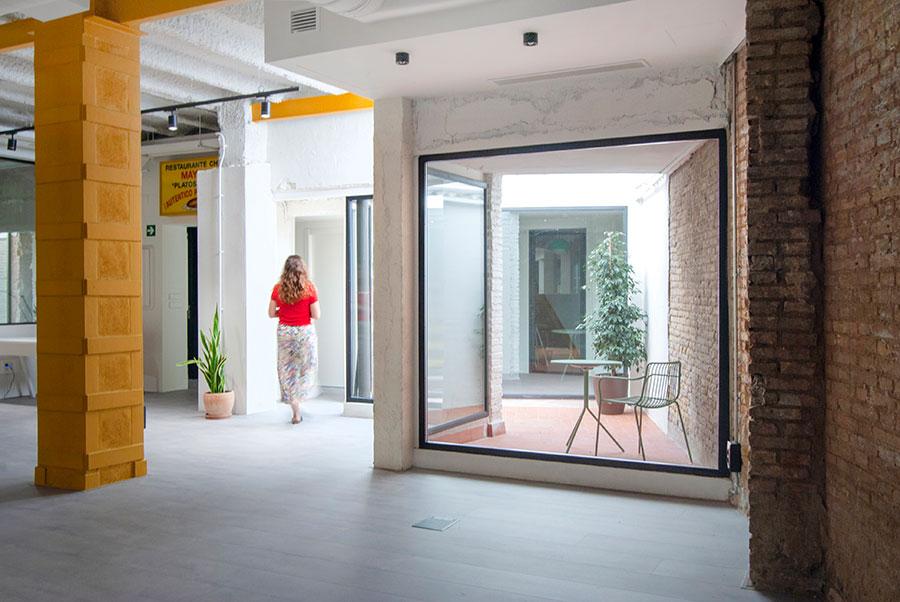 Nuevos patios en la ampliación de coworking Wayco