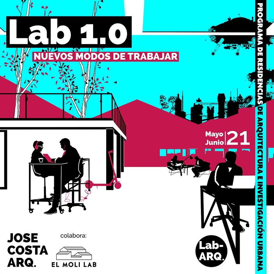 Cartel Lab-ARQ  Nuevos modos de trabajar